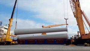 buque carga eolico