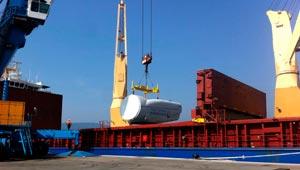 carga buque exterior